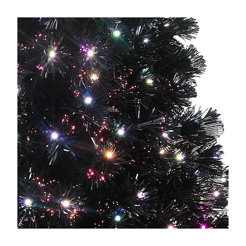 Árvore de Natal Black Shade LED multicores 180 cm slim 4