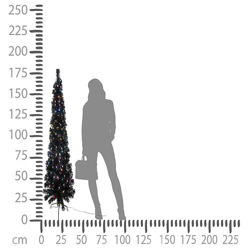 Árvore de Natal Black Shade LED multicores 180 cm slim 5