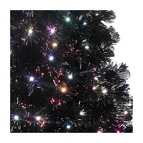 Black Shade tree with multicolor LED 180 cm slim s4