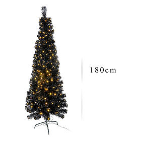 Sapin de Noël Black Shade LED 180 cm slim s3