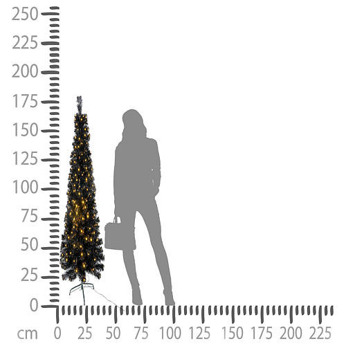 Albero di Natale Black Shade LED 180 cm slim 5