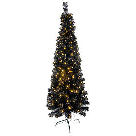 Árvores de Natal: Árvore de Natal Black Shade LED 180 cm slim