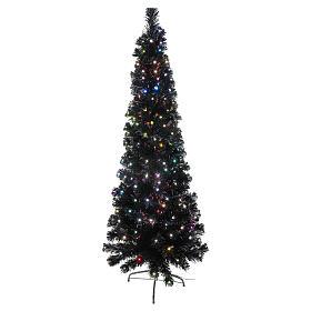 Sapin de Noël Black Shade LED multicolores 150 cm slim s1