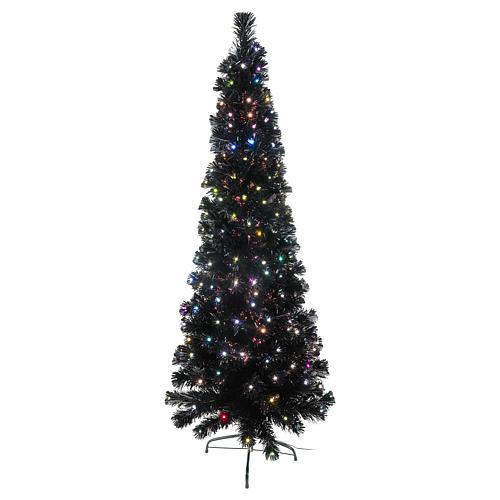 Sapin de Noël Black Shade LED multicolores 150 cm slim 1