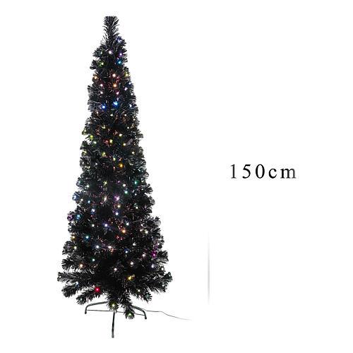 Sapin de Noël Black Shade LED multicolores 150 cm slim 4