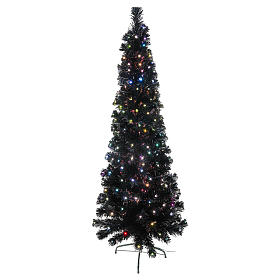 Black Shade Christmas tree with multicolor LED 150 cm s1