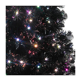 Black Shade Christmas tree with multicolor LED 150 cm s3