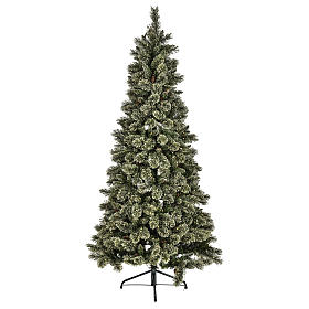 Árbol de Navidad Emerald 500 LED 230 cm con purpurina s1