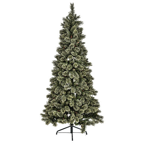 Sapin de Noël Emerald 500 LED 230 cm pailleté 1