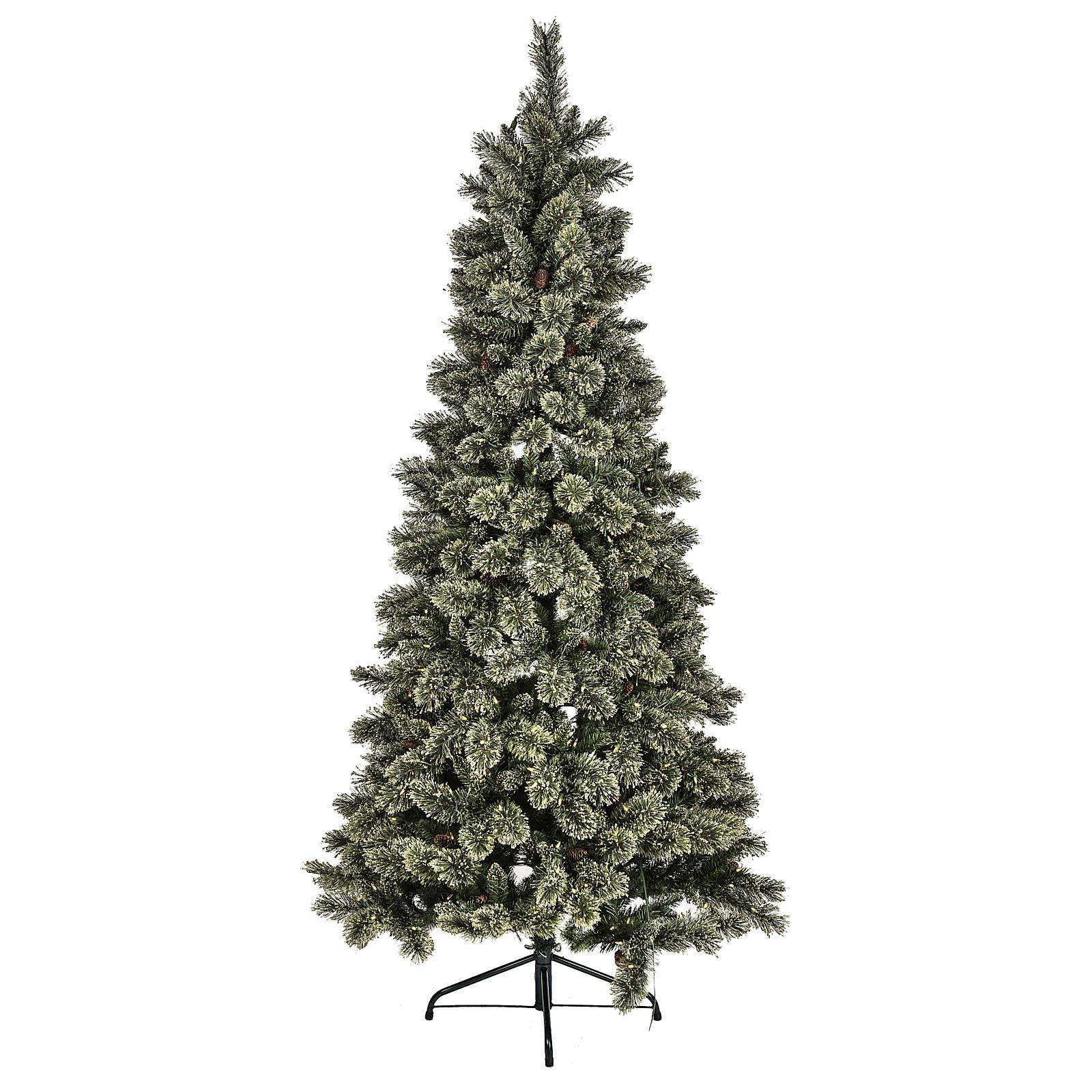 Árvore de Natal Emerald 500 LED 230 cm com glitter 3