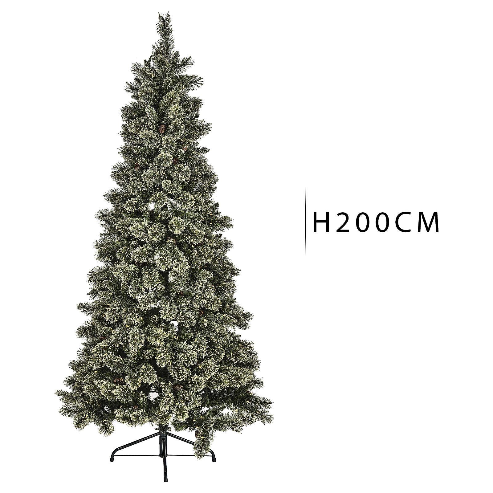 Árbol navideño 200 cm Emerald 400 LED con purpurina 3