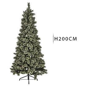 Árbol navideño 200 cm Emerald 400 LED con purpurina s3