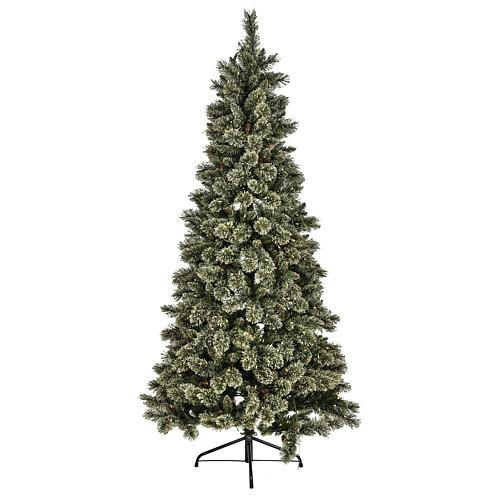 Árbol navideño 200 cm Emerald 400 LED con purpurina 1