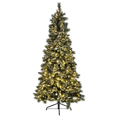 Árbol navideño 200 cm Emerald 400 LED con purpurina 2