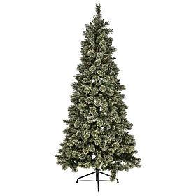 Albero natalizio 200 cm Emerald 400 LED glitterato s1
