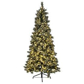 Albero natalizio 200 cm Emerald 400 LED glitterato s2