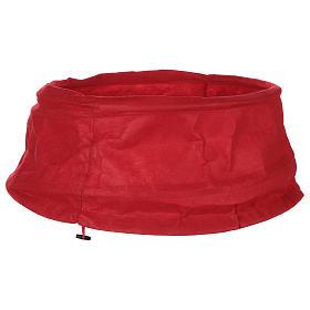 Falda cubre base Árbol Navidad paño rojo diám. 68 cm s1