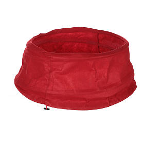 Falda cubre base Árbol Navidad paño rojo diám. 68 cm s2