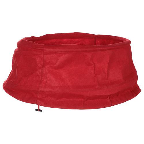 Falda cubre base Árbol Navidad paño rojo diám. 68 cm 1