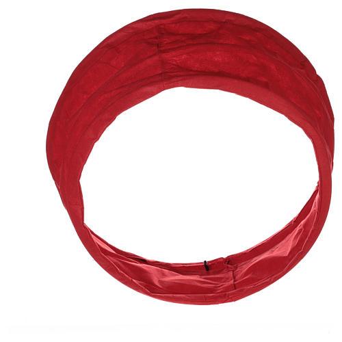 Falda cubre base Árbol Navidad paño rojo diám. 68 cm 3