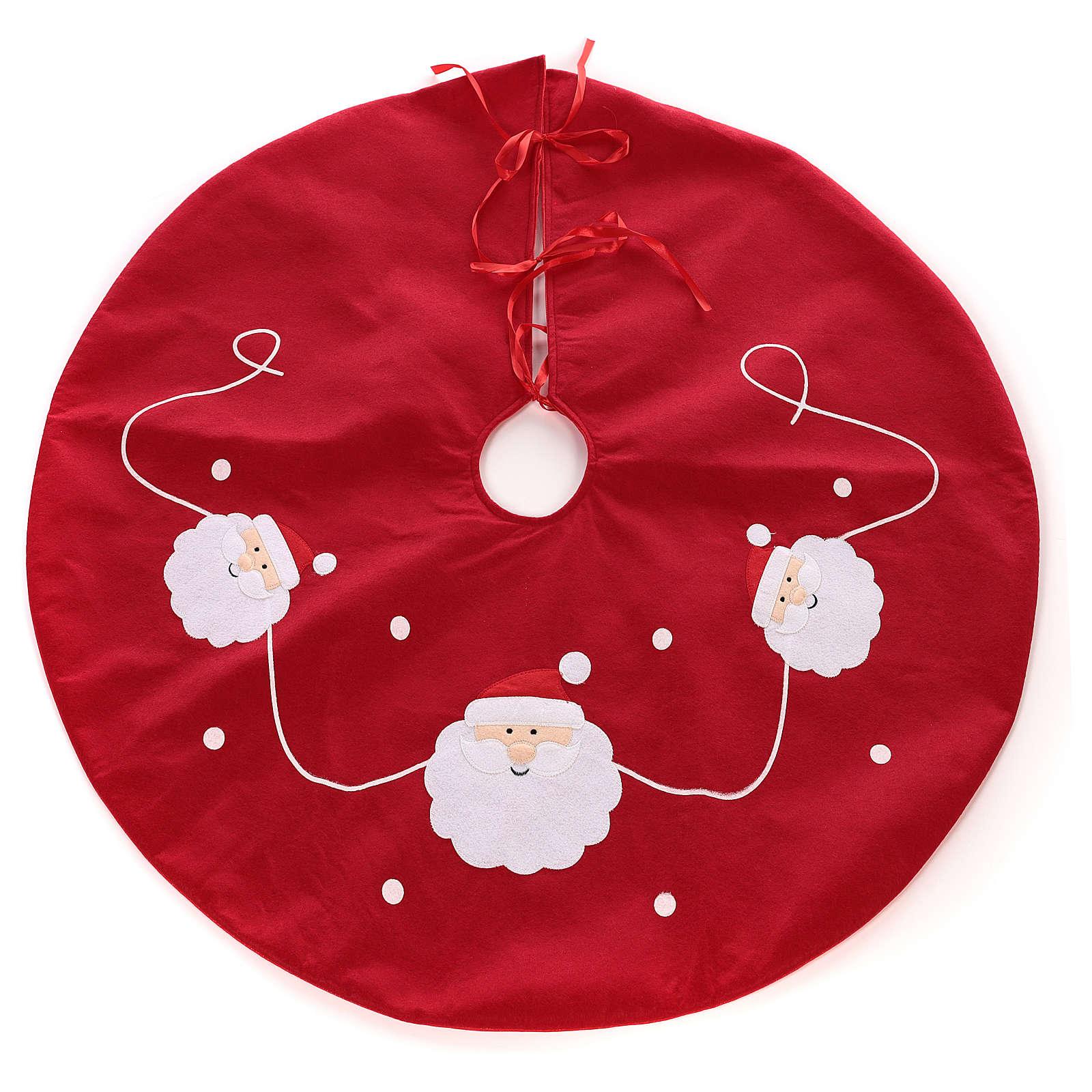 Falda cubre base Árbol Papá Noel diám. 90 cm 3