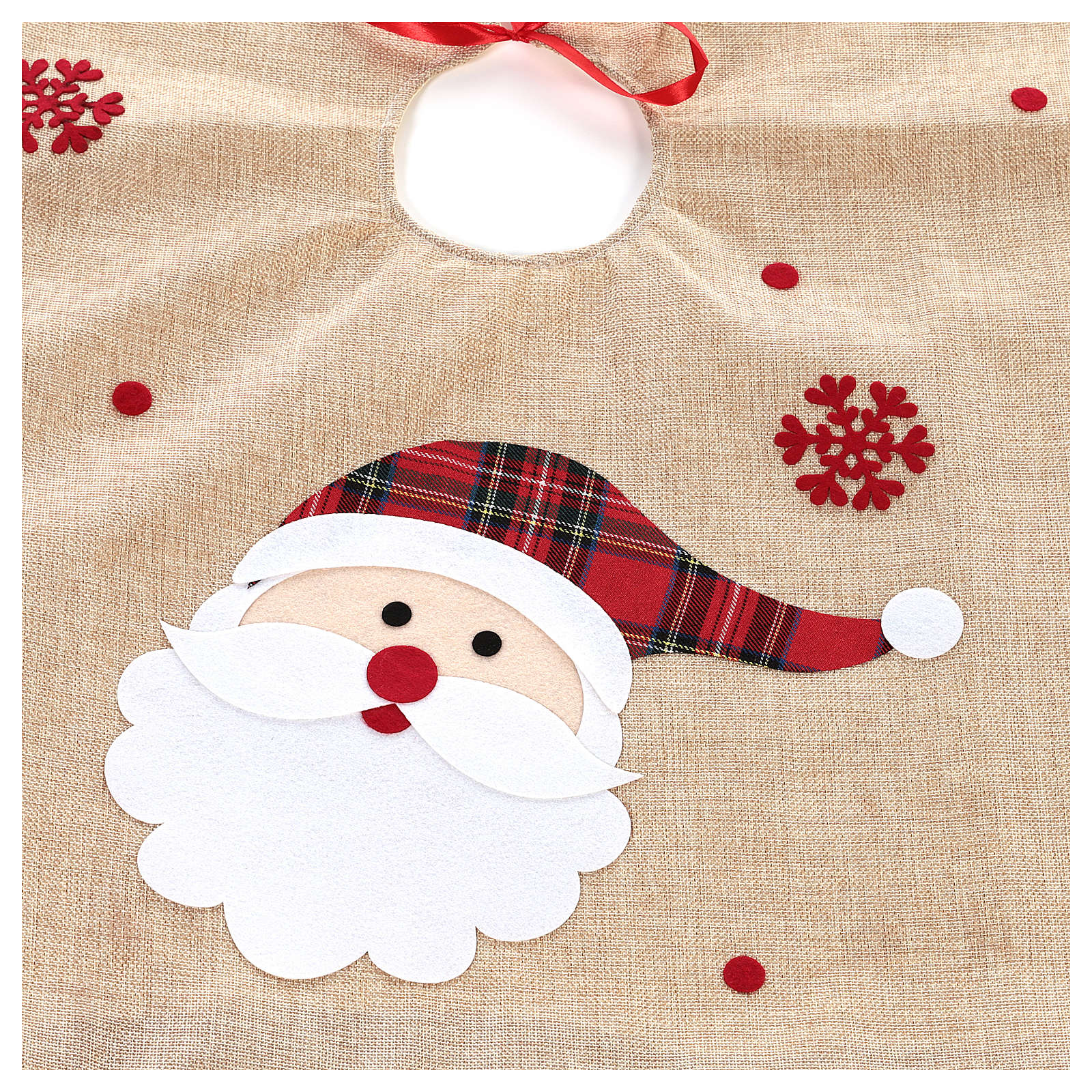 Falda cubre base Árbol yute y Papá Noel diám. 100 cm 3