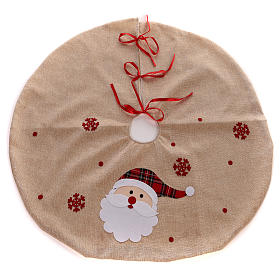 Falda cubre base Árbol yute y Papá Noel diám. 100 cm s1