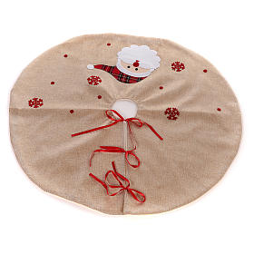 Falda cubre base Árbol yute y Papá Noel diám. 100 cm s3