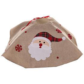 Falda cubre base Árbol yute y Papá Noel diám. 100 cm s4
