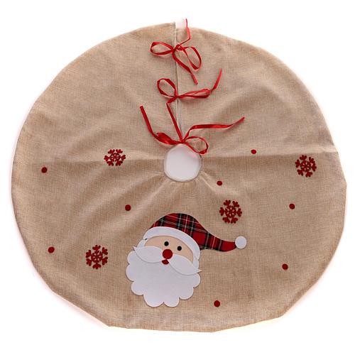 Falda cubre base Árbol yute y Papá Noel diám. 100 cm 1