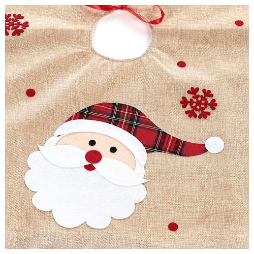 Falda cubre base Árbol yute y Papá Noel diám. 100 cm 2
