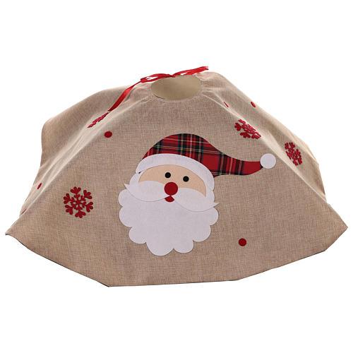 Falda cubre base Árbol yute y Papá Noel diám. 100 cm 4