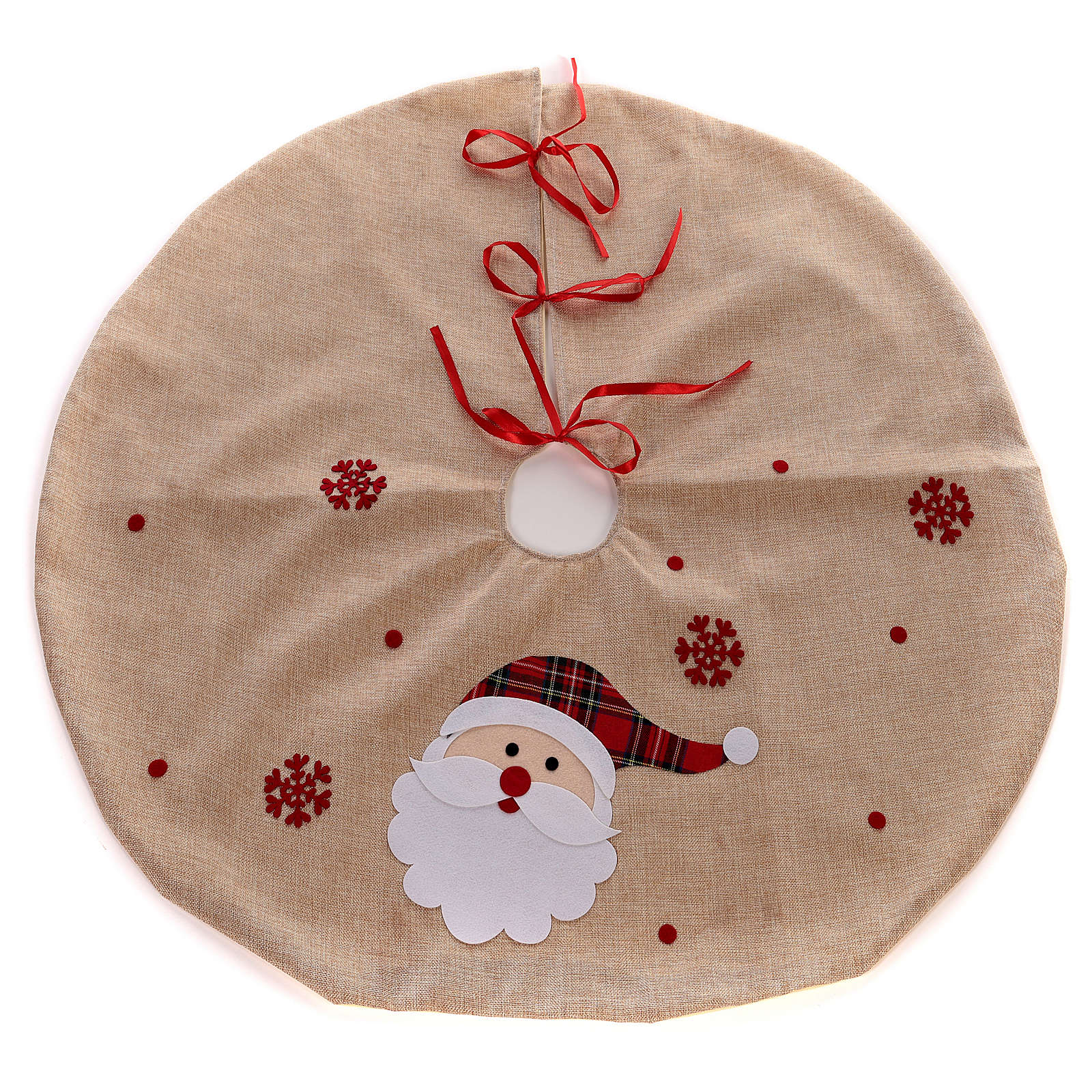 Juta Christmas tree skirt with Santa Chlaus 39 in 3