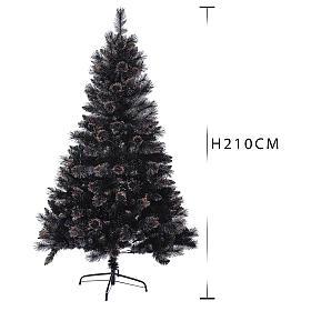 Árvore de Natal Quartz Fumé 210 cm com matizes s3