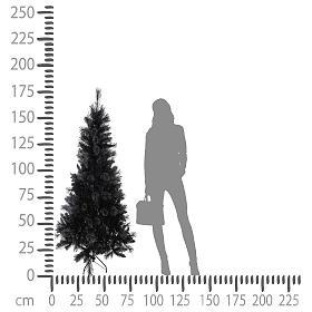 Albero di Natale Black Stone 180 cm s4
