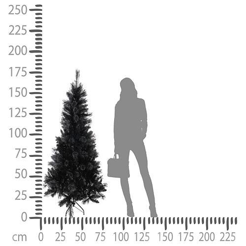 Albero di Natale Black Stone 180 cm 4