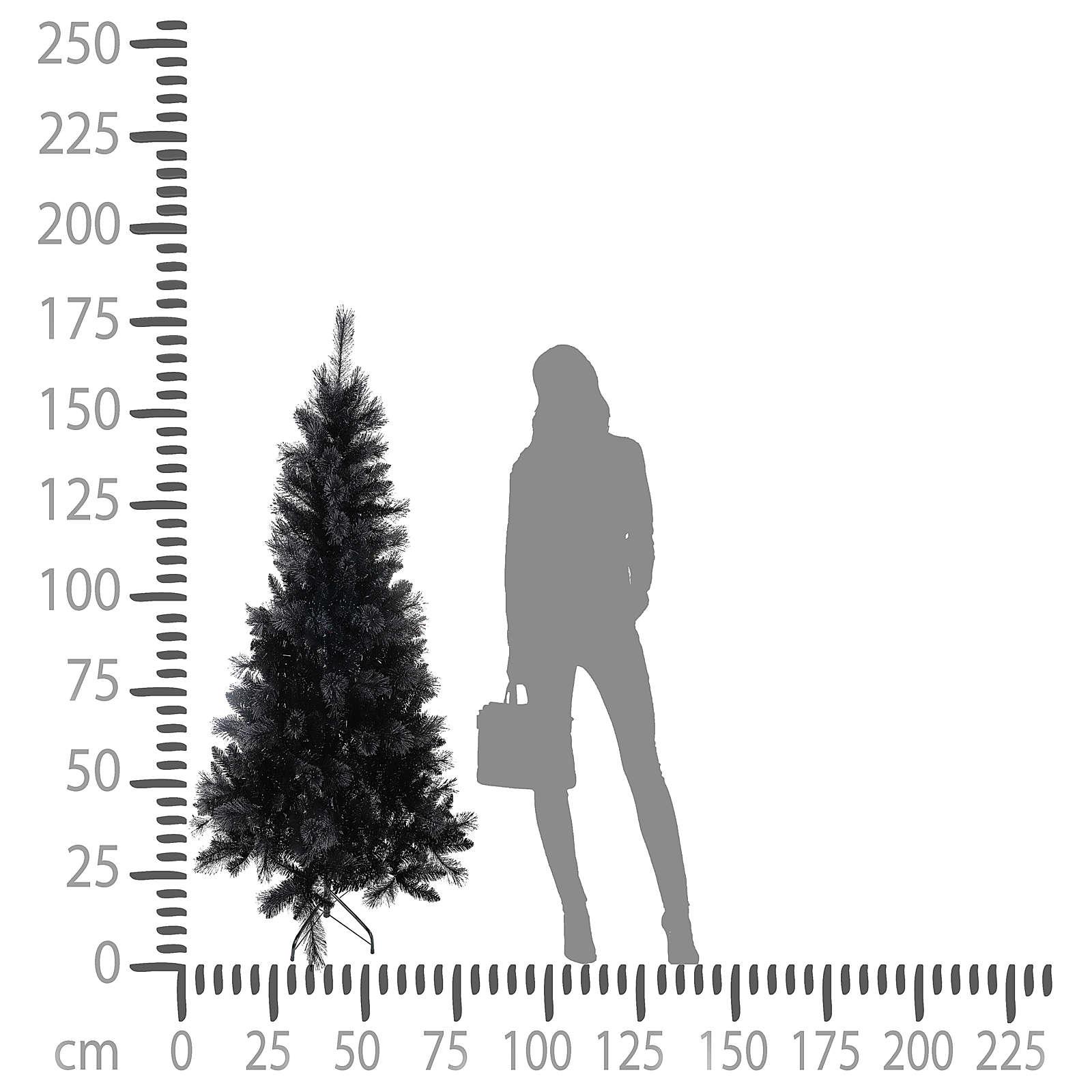 Black Stone Christmas tree, 180 cm 3