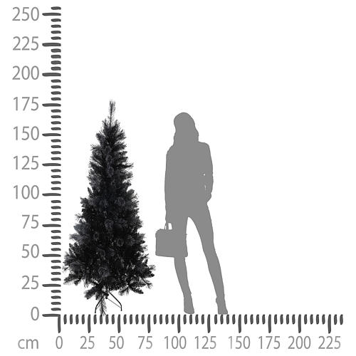 Black Stone Christmas tree, 180 cm 4