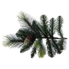 Árbol de Navidad artificial 180 cm verde con piñas Carolina s5