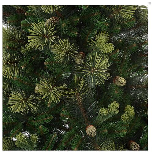 Árbol de Navidad artificial 180 cm verde con piñas Carolina 3
