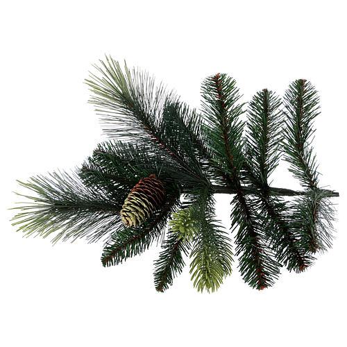 Árbol de Navidad artificial 180 cm verde con piñas Carolina 5