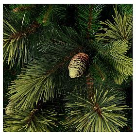 Albero di Natale artificiale 210 cm verde con pigne Carolina s2