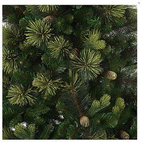 Albero di Natale artificiale 210 cm verde con pigne Carolina s3