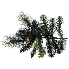 Albero di Natale artificiale 210 cm verde con pigne Carolina s5