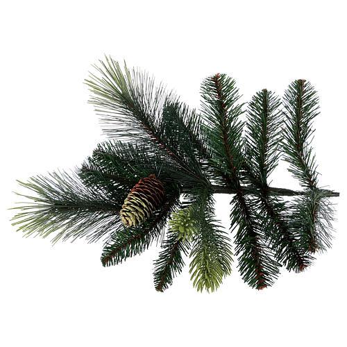 Albero di Natale artificiale 210 cm verde con pigne Carolina 5