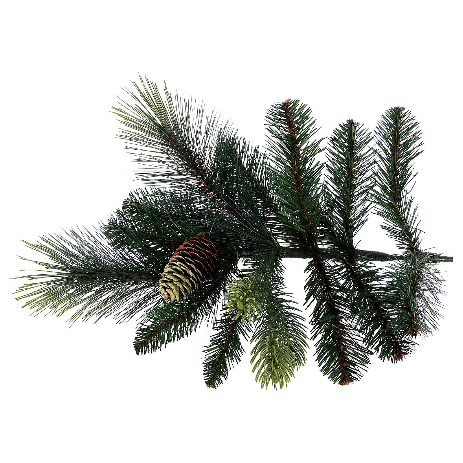 Árbol de Navidad artificial 225 cm color verde con piñas Carolina 3