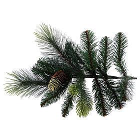 Árbol de Navidad artificial 225 cm color verde con piñas Carolina s5