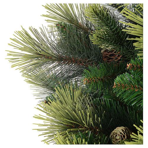 Árbol de Navidad artificial 225 cm color verde con piñas Carolina 4