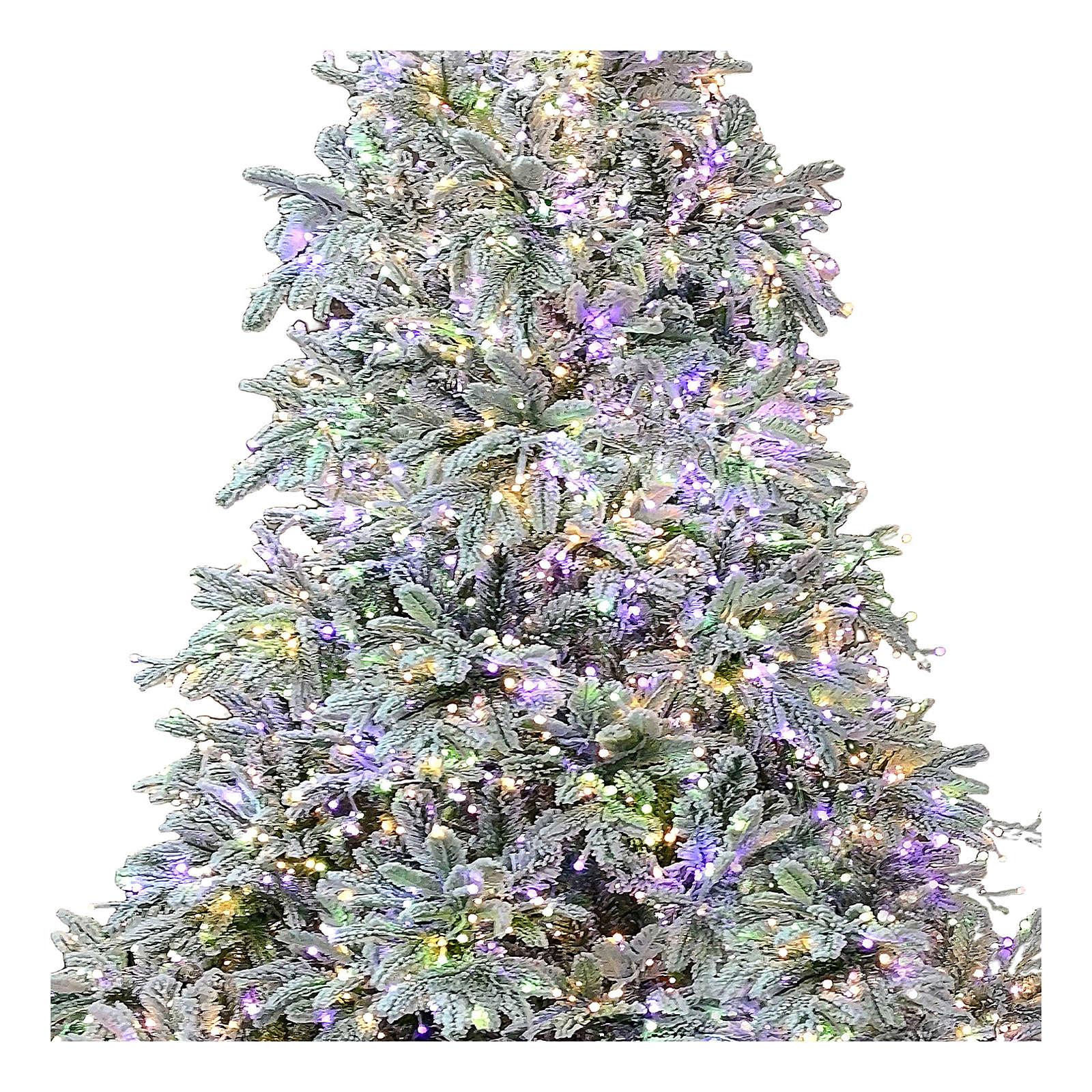 Árbol de Navidad 195 cm 2000 LED 3 colores Poly Andorra Frosted 3
