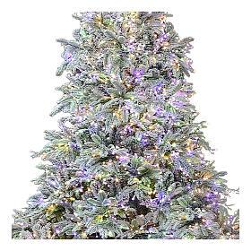 Árbol de Navidad 195 cm 2000 LED 3 colores Poly Andorra Frosted s2